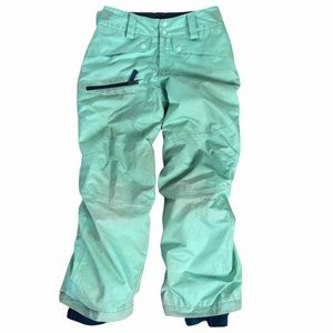 PATAGONIA Girl's Youth Teal Snow Pants Size Small 7-8 Years Pre-Owned